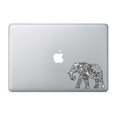 Flower Elephant Black White Macbook product image