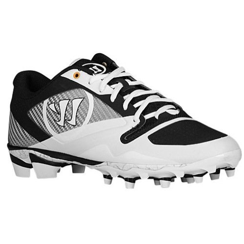 Warrior Men's Gospel Lacrosse Shoe, White/Black, 9 D US