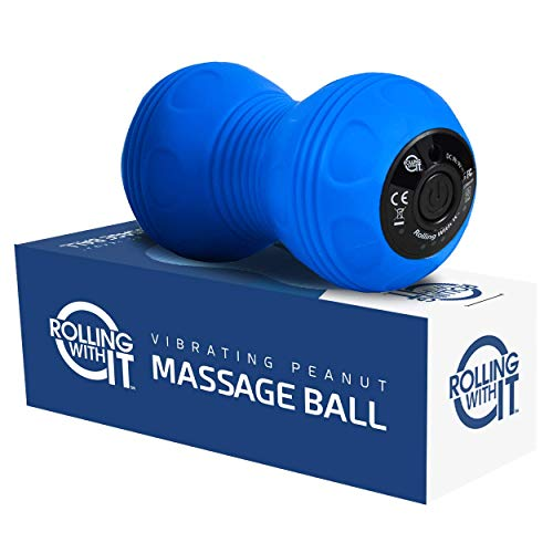 Professional Vibrating Peanut Massage Ball - Deep Tissue Trigger Point Therapy, Myofascial Release -...