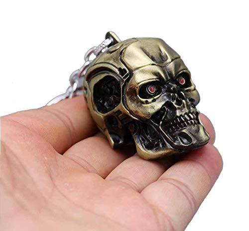 Paquete de 3 Llavero de Metal con Cr/áneo Terminator