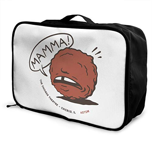 Mamma Meatball! Lightweight Large Capacity Portable Luggage Bag Fashion Travel Duffel Bag