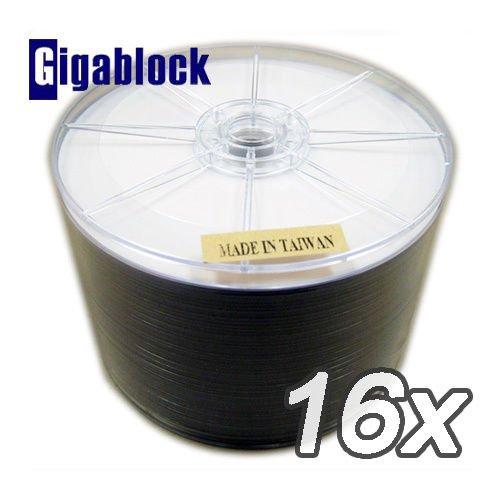 1,000pcs Gigablock DVD-R 16x White Inkjet Hub Printable Studio quality grade by Gigablock