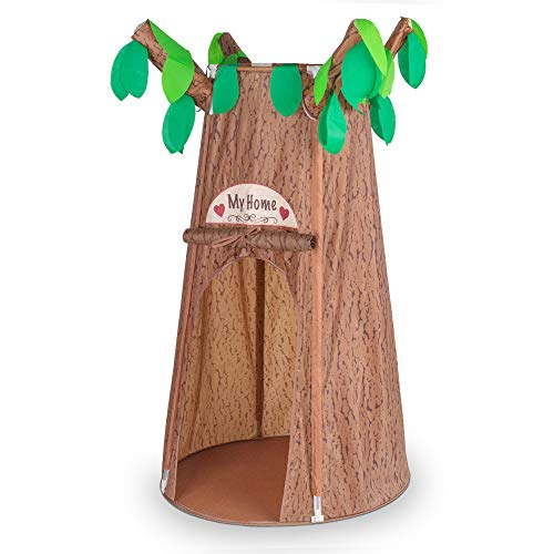 Kids Play Tents, Forest Hollow Tree House for Girls, Boys Pretend Play Game Props, Easy Assembly Pop Up Play Tent with Portable Carrying Bag, Age 3 - 7 (59