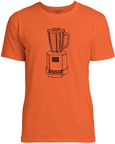 Austin Ink Apparel Womens 90s Retro Blender Unisex Cotton T-Shirt, Bright Orange, 2XL