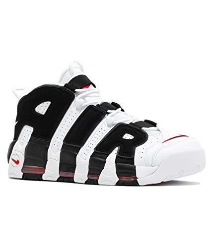 La oficina Mojado De otra manera  Buy AIR More Uptempo White/Black Men's Basketball Shoes (9 UK) at Amazon.in