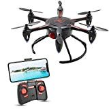 tech rc Mini Drone with HD Camera Live Video, WiFi FPV Fun Quadcopter with Headless Mode Altitude Hold and 3D Flips, Easy Play for Kids and Beginners