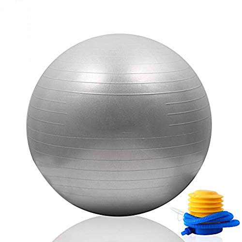 Mounchain Yoga Ball(Multiple Sizes and Colours) for Fitness, Exercise Ball 2000lbs Anti Burst Equipment for Balance,Gym…