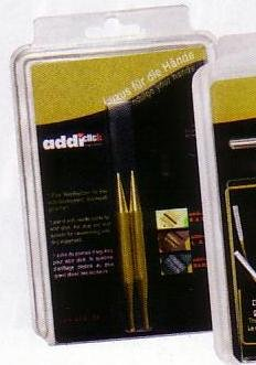 addi Click Lace Short Tip Replacement 3.25-inch (8cm) Tip Pair; Size US 10.75 (7.00 mm)