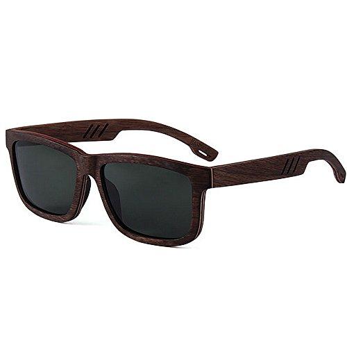 conduce las Beach personalidad de Gafas hechas gafas madera a sol de polarizadas sol de hombres Protección mano que de de ULTRAVIOLETA los Sunglasses sol calidad Color de la de Gris Gris gafas alta gqgFxrSf