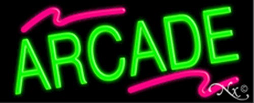 (13x32x3 inches Arcade NEON Advertising Window Sign)