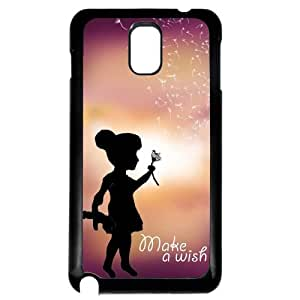 Cover for Samsung Galaxy Note 3 Girl blowing flower wish pretty quote Phone case