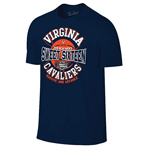 Virginia Cavaliers 2019 Sweet 16 Basketball March Madness T-Shirt - 2X-Large - Navy