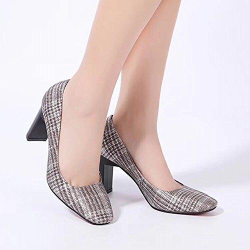 Hauts en Cuir de Femmes Femmes avec Les Et Coréennes Chaussures 'Rough DHG Japonaises Mode Une Et des de des 'S des Qualité Chaussures des Chaussures en Printemps de 36 Talons Haute Été zq7RHCw