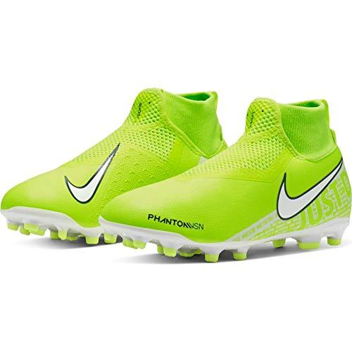 Nike Jr. Phantom Vision Academy Dynamic Fit MG (3.5 M US Big Kid), Volt/Volt/White