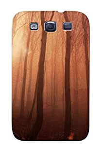 Exultantor Anti-scratch And Shatterproof Owl Forest Trees Bird Phone Case For Galaxy S3/ High Quality Tpu Case