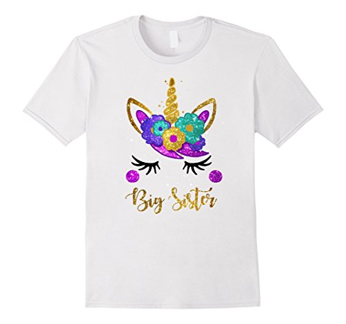 Big Sister Unicorn Birthday Girl T-Shirt Unicorn Gift (Big Sister Womens T-shirt)