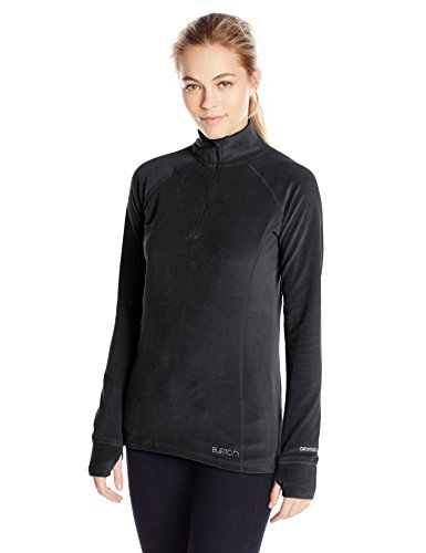 BURTON Women's Expedition 1/4 Zip, True Black, Large