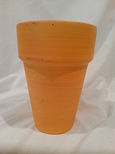 orange-flower-pot-7-inches-tall-x-4-1-2-inch-diameter-opening