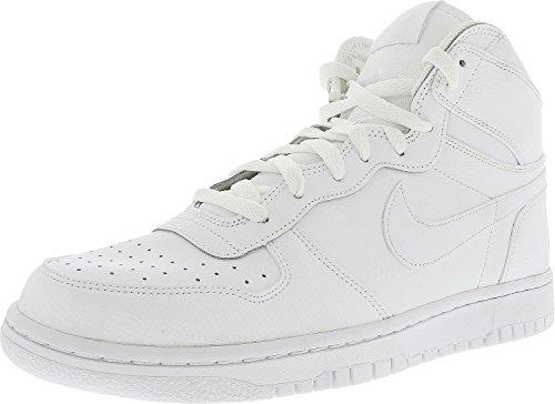 Sneaker grande Nike Nike High White / White-Black High-Top in pelle per uomo - 9,5 M