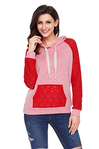 SilkRoadOriginal Women Lace Accent Kangaroo Pocket, used for sale  Delivered anywhere in Canada