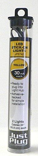 Woodland Scenics Just Plug LED Stick on Lights Yellow for Scale Model Railroads 5742