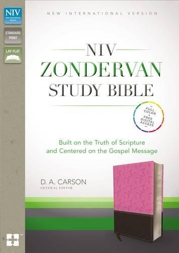 NIV Zondervan Study Bible, Imitation Leather, Pink/Brown