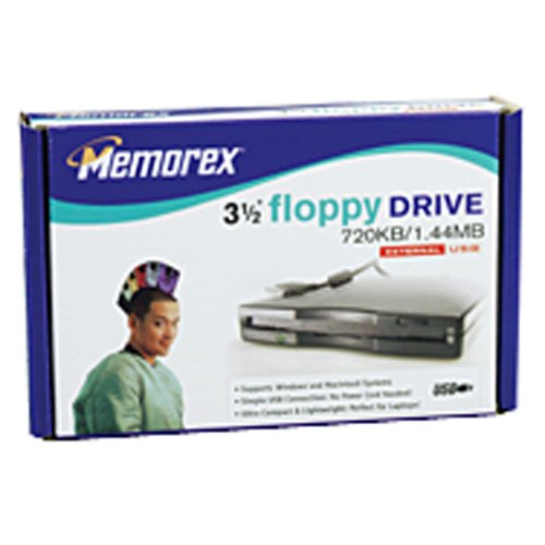 Memorex 1.44MB USB Floppy Drive (Black) (Discontinued by (Memorex Usb Connector)