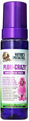 Nature's Specialties Plum-Crazy Foaming Facial Wash for Pets, 7.5-Ounce -