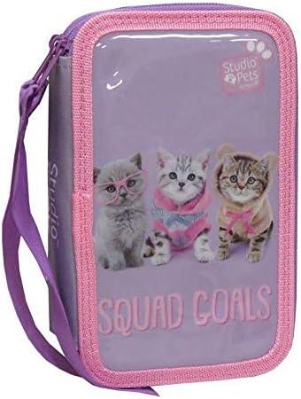 Studio Pets EP-303B-ST Plumier 3 Pisos con Material Escolar- Gato: Amazon.es: Equipaje