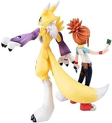 XIAOGING Anime Model Anime Sculptuur Digimon Tamers Renamon & Ruki PVC Figuur - Zeer gedetailleerde beeldhouw 5,9 inch