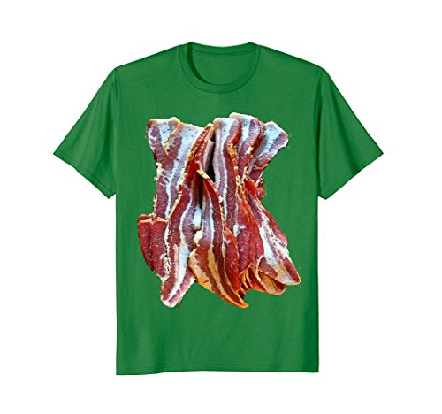 Mens Bacon last minute funny Halloween costume tshirt Medium Kelly Green ()