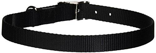 Dogit Nylon Single Ply Dog Collar with Buckle, Large, 22-Inch, Black (Nylon Ply Collar Single Dog)