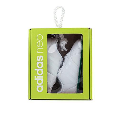 adidas Unisex Babies' Vs Advantage Crib Sneakers, Multicolor (FTWR White/FTWR White/Green), 12-18 Months