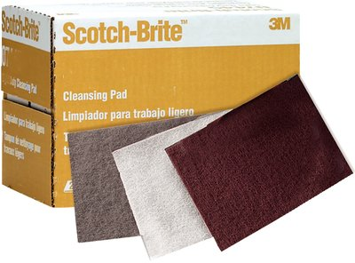 Scotch-Brite 04028 7448 Ultra Fine Hand Pad, 6'' x 9'', Silicon Carbide Abrasive Grit, 4'' Diameter (Pack of 20)