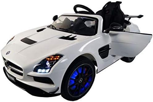 メルセデスSLS AMG 12vバッテリー駆動電動リフトキッズおもちゃ車リモートホワイトクリスマス子供用自動車(海外製)