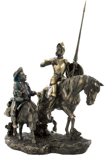 Amazon.com: Don Quixote & Sancho Panza Statue Sculpture: Artwork ...