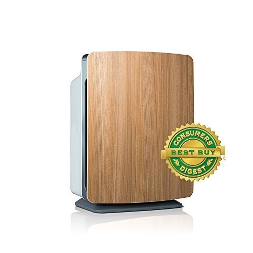 Alen BreatheSmart FIT50 Customizable Air Purifier with HEPA-Silver Filter to Remove Allergies, Mold & Bacteria (Oak, Silver, 1-Pack)