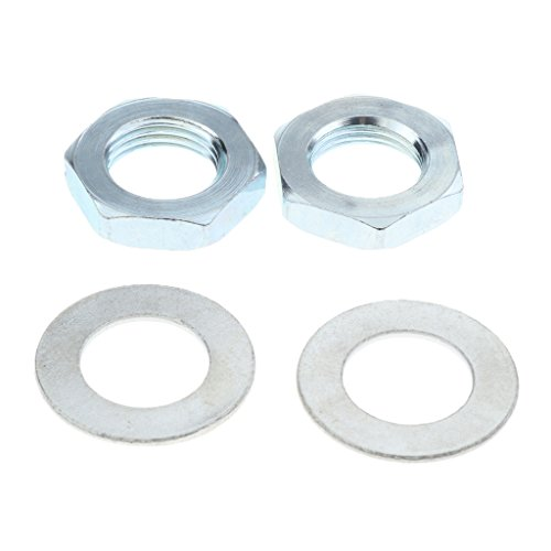 DYNWAVE Durable Toe Stop Lock Nut & Washer for Quad Roller Skates Lot of 2 Each