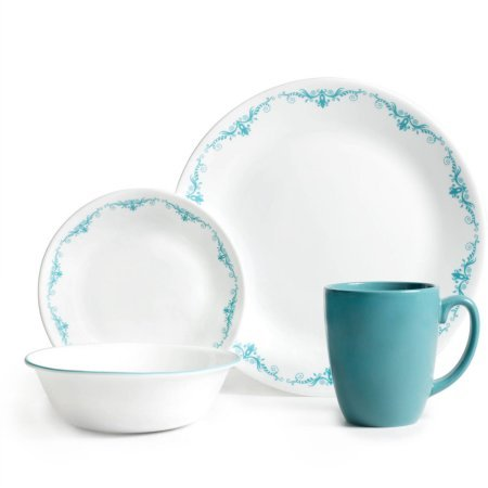 Corelle Livingware 32-Piece Dinnerware Set, Garden Lace(T...