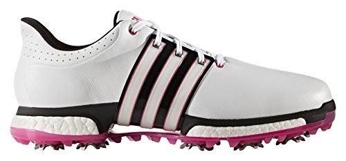 Adidas Tour360Boost Golf Schuhe blanco / negro / rosa