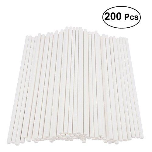 200pcs Paper Lollipop Sticks Cake Pop Sticks