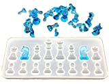 Resin Casting Molds Kit for Making Jewelry Necklace Pendant,The 3D Chess Clear Silicone Mold for Making Polymer Clay, Crafting, Resin Epoxy