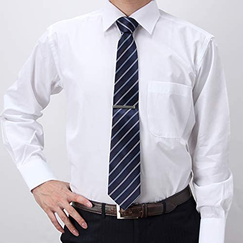 ワイシャツ 長袖 (形態安定) 5枚組 セット メンズ 綿混素材 ワイドカラー 白シャツ イージーケア M L LL 3L 大きいサイズ 白 5SET-SHDZ10-00