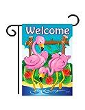 Breeze Decor G155029 Flamingos Garden Friends Birds Impressions Decorative Vertical Garden Flag 13