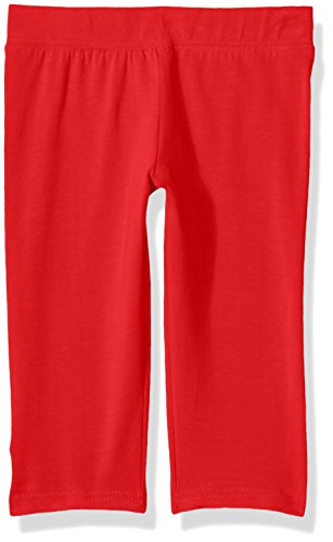 Clementine Apparel Big' Young Girls Capri Leggings for Yoga, School and Workout, Red, 7 ()