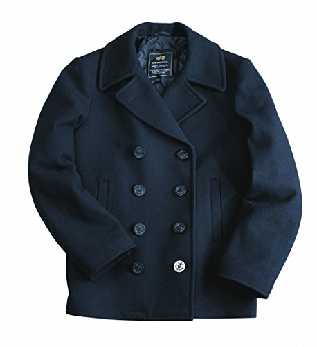 Industries Coat Mantel Navy USN Alpha Pea vwPCq11x