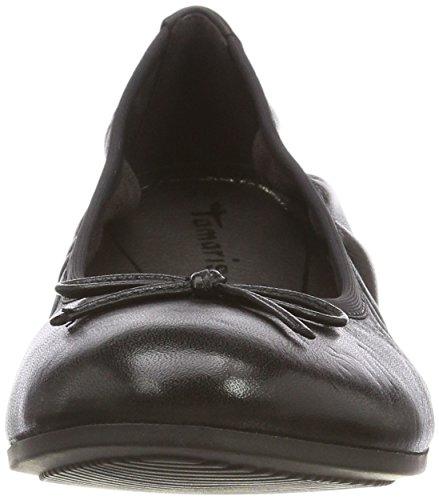 003 Leather Noir Ballerines Tamaris Femme black 22116 nqw1pnxOFY
