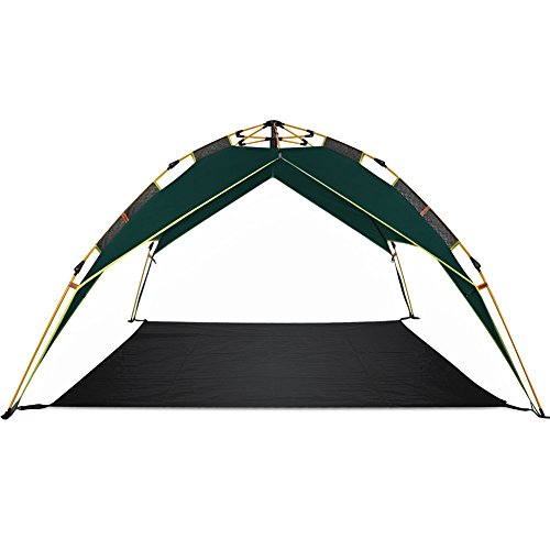 Toogh 2-3 Person Tent Automatic Family Tents for Camping Hiking with Portable Pack(Army green and Sky blue color options)