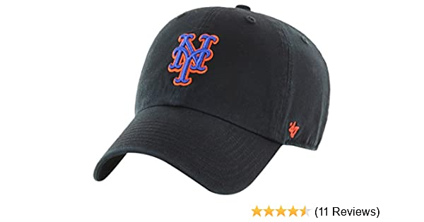 factory authentic 05c6a 57711 Amazon.com    47 York Mets Clean Up Dad Hat Cap MLB Black Royal Orange    Clothing