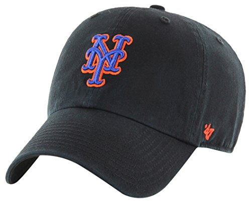 '47 York Mets Clean Up Dad Hat Cap MLB Black/Royal/Orange -